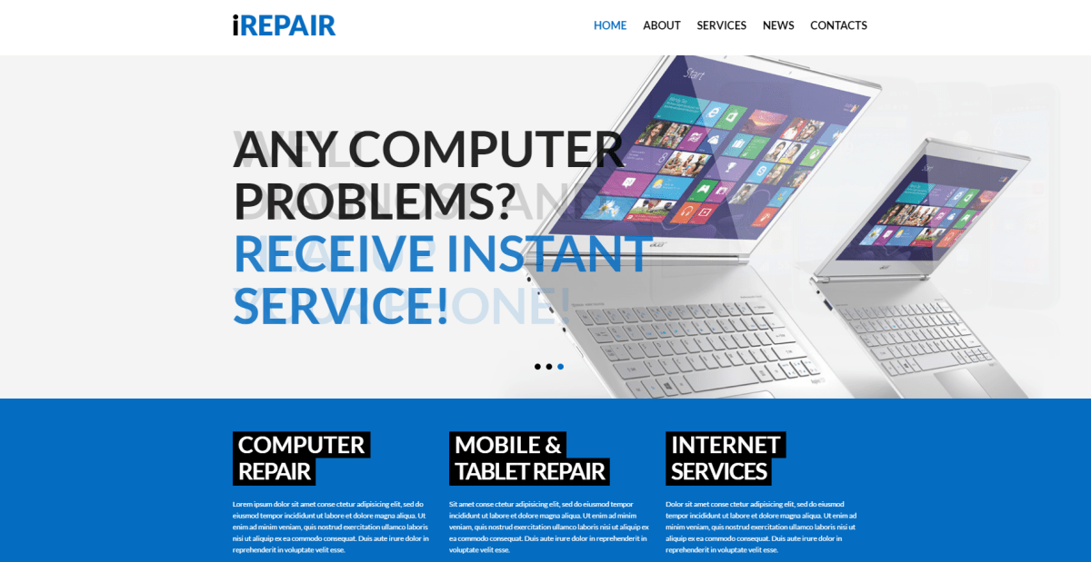 Best Phone, Mobile, Computer Repair Services WordPress Themes 2017